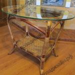 Плетеный стол со стеклом - фото2