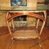 Плетеный стол со стеклом -фото3