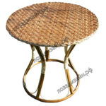 Круглый плетеный стол