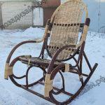 Разборное кресло качалка из лозы