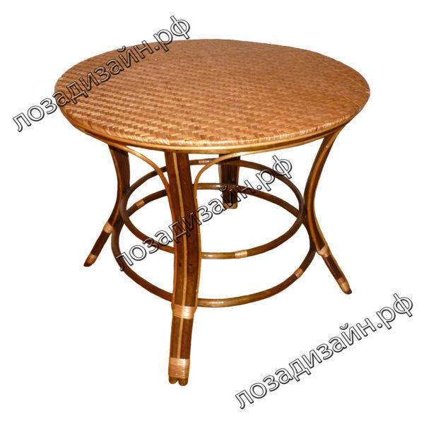 Столик плетеный круглый