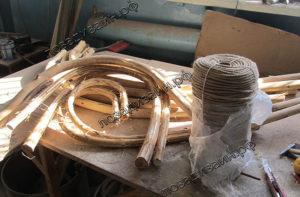 Необработанные заготовки для кресла качалки