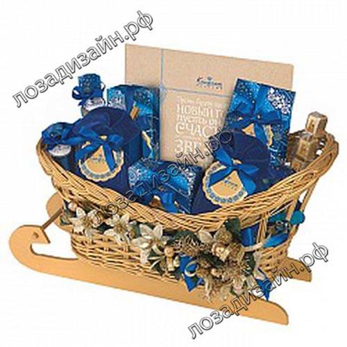 Корзина Сани с подарками