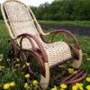Кресло качалка ведуга в траве