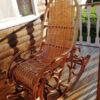 Кресло качалка ведуга на террасе