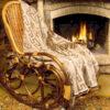 Кресло качалка ведуга у камина