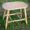 Плетеный столик с обвитыми ножками фото 2