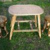 Плетеный столик с обвитыми ножками фото 3