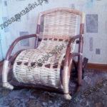 Плетеное кресло качалка детское