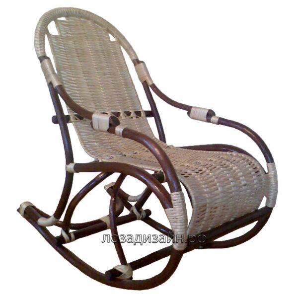 Детское кресло-качалка из лозы