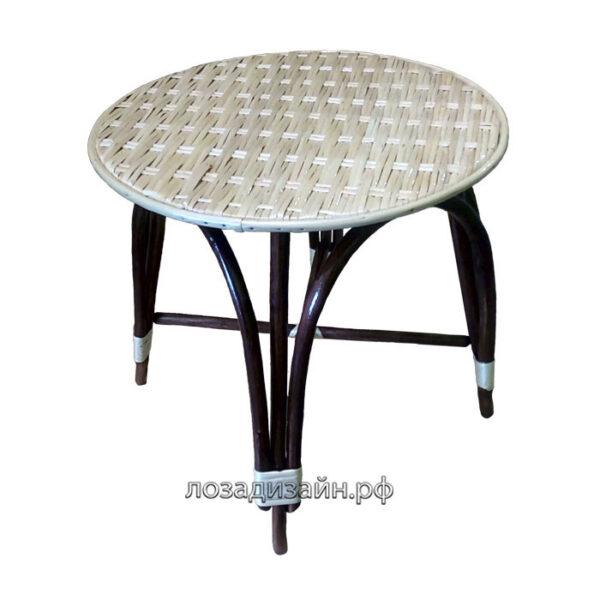 Плетеный стол из ивовой лозы